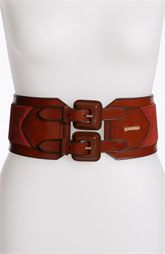 Burberry Leather & Suede Belt