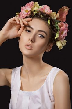 Diadem Series, 2013, Model: Irina Pritulyak, Mua: Natali Murashko, Hair: Julia Artyomenko, Retouch: Tanya Garapko, Eustoma flowers, beauty, makeup