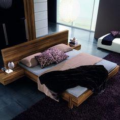 Rossetto USA Gap Walnut Queen Platform Bed