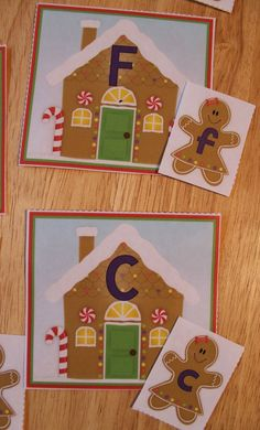Free gingerbread ABC matching activity. Alphabet and letter matching gingerbread activity for your preschool, pre-k and kindergarten gingerbread unit.