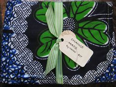 Blue and Bright Green Floral Modern Baby Change by BAGSbyMartha, $27.00