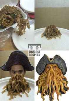 Funny Cosplay Davy Jones (Pirates of the Caribbean)