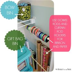 My Craft Closet: Organization Tips and Ideas Part 2 (small home/ BIG IDEAS) - Simplicity in the South
