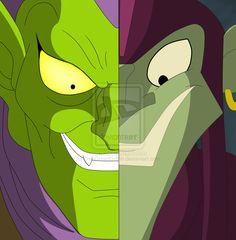 Spider-Man -  old and new Green Goblin by The-GreenGoblin.deviantart.com on @deviantART