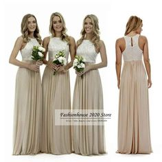 f64255903e4c5 Sexy Long Champagne Chiffon Bridesmaid Dresses Lace Beach Bridesmaids Dress  Plus Size Wedding Guest Gowns Country Maid Of Honor Dress Olive Green  Bridesmaid ...