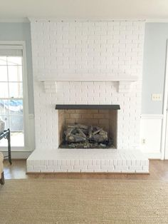 Painted Brick Fireplace from Emily A. Clark