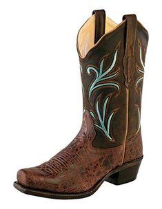 Stivali in pelle Mayura brown con inserti in vero pitone