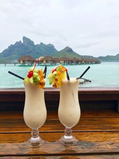 Cocktails always taste better when this is your view (obviously).
