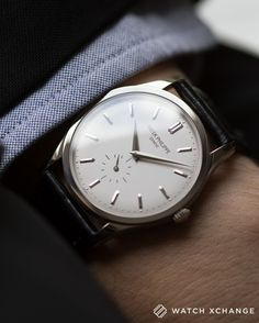 KSK luxury//18-carat white gold Patek Philippe Calatrava watch
