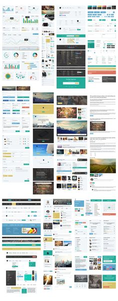 Fully customizable component-based web UI Kit including hundreds of drag-and-drop elements across 10 content categories to greatly speed up your design workflow. Web Dashboard, Ui Components, Iphone App Design, Flat Web, Bootstrap Template, Mobile Ui Design, Ui Elements, User Interface Design, E Commerce