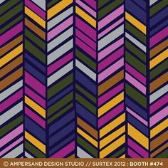 Vivid herringbone pattern from Ampersand Design Studio.