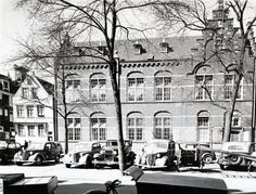 1950's. Parked in Amsterdam from left to right: Fiat 1100, Opel Olypmia, Ford Model A, Wanderer W24 Jagdwagen (GZ-87546). Photo Stadsarchief Amsterdam. #amsterdam #1950
