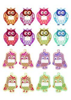 digital printable owl tags to download