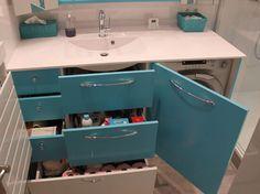 Lave linge cacher dans meuble de salle de bain salle de - Meuble salle de bain avec lave linge integre ...