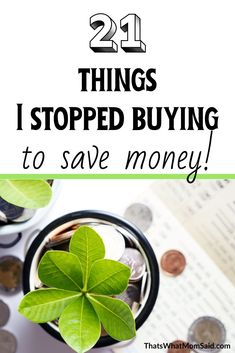 21 Things I Stopped Buying To Save Money - Finance tips, saving money, budgeting planner Save Money On Groceries, Ways To Save Money, How To Get Money, Money Tips, Money Saving Tips, Frugal Living Tips, Frugal Tips, Frugal Meals, Budgeting Finances