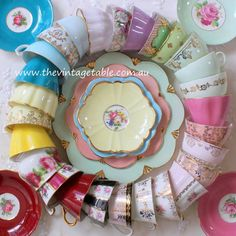 We have vintage bone china tea sets in almost every color of the rainbow!