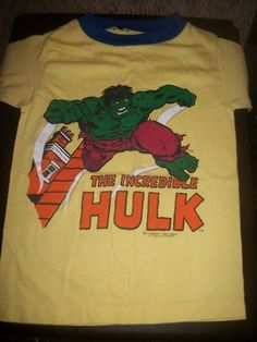 Vintage Incredible HULK T-Shirt(kids) | eBay