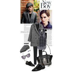New Boy by cutandpaste on Polyvore featuring 3.1 Phillip Lim, IKKS, Jason Wu, Blue Nile, Cameo, Emma Watson, women's clothing, women's fashion, women and female