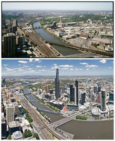 Top picture taken in 1985 Bottom picture taken in 2008