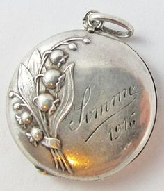 Art Nouveau Lily of The Valley French WW1 Somme 1916 Vintage Locket Sterling | eBay