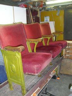 CINEMA CHAIRS/ VINTAGE THEATRE CINEMA FOLDING SEATS RETRO/INDUSTRIAL
