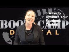 VIDEO: 3 Ways to Optimize Your Facebook Content #SocialMediaMarketing