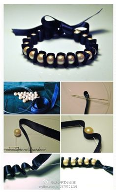 Hand made bracelet - this lady is so talented. http://www.duitang.com/people/mblog/63730358/detail/?pre=26469045