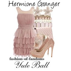 Hermione Granger by fofandoms on Polyvore featuring Karen Millen, Salvatore Ferragamo, Oasis and Pilgrim