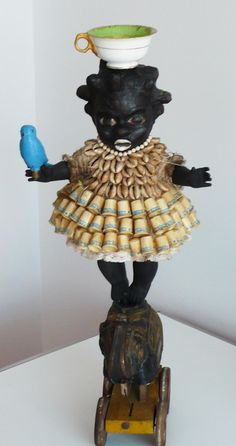 Thimble Girl on Elephant Pittsburgh Art, Found Object Art, Art Brut, Bizarre, Assemblages, Assemblage Art, Naive Art, Outsider Art, Box Art