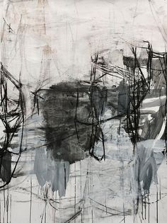 Deborah Dancy, Winter #20 2015, charcoal, gesso, acrylic on paper