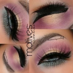 Photo: Hello Luvs ❤ Thank you for the great response on my last posts. I'm telling you, you are keep me going & inspire me to try & get better to serve you some great ideas & tutorials Here's one of latest @motivescosmetics looks, enjoy! Deets: ~Eye Base ~Motives for @Lala Muse Palette (Plum shade) ~Pressed Eyeshadows in Ecstasy, Breaking Dawn, Blizzard, Pacific Sea ~Paint Pot in 'She Sparkles' ~Waterproof Eyeliner Pen Black Magic ~Luxe Precision Eyeliner Jet ...