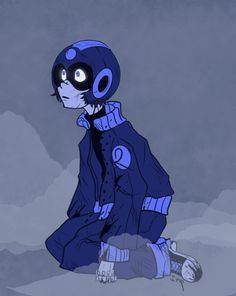 Megaman in style of The Protomen Art by Tumblr user pen-and-imp