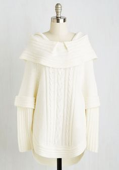 Bonfire Season Sweater in Cream From the Plus Size Fashion Community at www.VintageandCurvy.com
