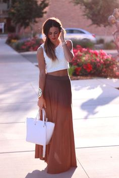 Maxi skirt & crop top.