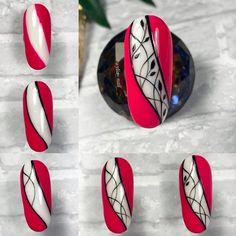 Nail Art Blog, Nail Art Hacks, Gel Nail Art, Natural Nail Designs, Simple Nail Art Designs, Swag Nails, Pink Nails, Grunge Nails, Sugar Skull Nails