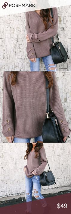 Soft mocha sweater top Soft cotton blend mocha colored sweater is a great staple to your wardrobe when you need something cute and fashionable to wear with your favorite jeans or shorts! NWOT debut Sweaters V-Necks