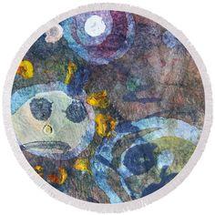 #abstract #fun Round Beach Towel  pixels.com