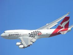 Qantas 747-400 at the 2012 Melbourne Formula One Grand Prix