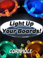 lights for cornhole boards