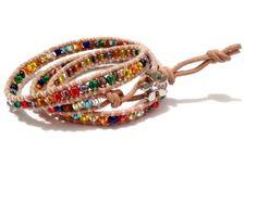 """Armband  """"Chan Luu"""" Stil  mit Rocailles von Tessie's  Schmuck & Deko auf DaWanda.com"""