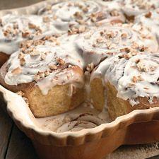 Cinnamon-Swirl Pumpkin Rolls : King Arthur Flour