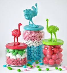 bird candy jars by Torie Jayne