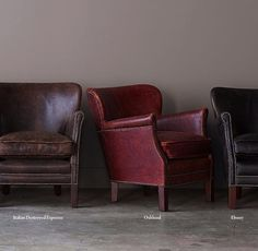 Restoration Hardware(レストレーションハードウェア)レザーチェア「Professor's Leather Chair With Nailheads」
