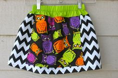 Girl's HALLOWEEN Lime Green and Bright Colored by twochickscreate, $22.00
