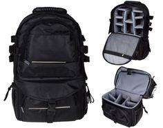 Multifunctional Black Deluxe Camera Backpack Bag Case For Canon Nikon DSLR SLR