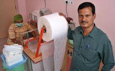 Cool story about Arunachalam Muruganantham, an Indian man who embarked on a long crusade to make…sanitary napkin