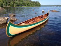 ca 1912 17' B.N. Morris Wood Canvas Canoe by WoodCanvas on Etsy, $5600.00