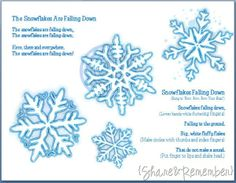 Make Snowflake Puppets with the free printable snowflakes. Includes song and fingerplay. Great for indoor movement on a snowy day or a preschool weather theme for winter. Kindergarten Music, Preschool Music, Snow Theme, Winter Theme, Christmas Activities For School, Winter Activities, Snowflake Poem, Frozen Songs, Preschool Weather
