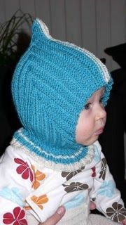 La Cagoule de lutin norvégien - Tante T: Trudes pixielue med hals Baby Hats Knitting, Knitting For Kids, Knitting For Beginners, Baby Knitting Patterns, Knitted Hats, Hood Pattern, Free Pattern, Baby Barn, Knit Crochet