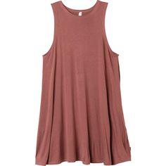 Sucker Punch 2 Dress RVCA (620 ZAR) ❤ liked on Polyvore featuring dresses, vestidos, high neck swing dress, red dress, red swing dress, high neck dress and swing dress